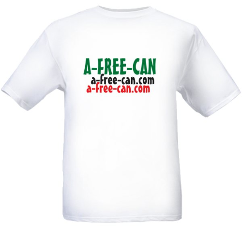 T-SHIRT, Men: A-FREE-CAN (Model MZM) kwa Wanaume / Pour Hommes / For Men / Para Homens