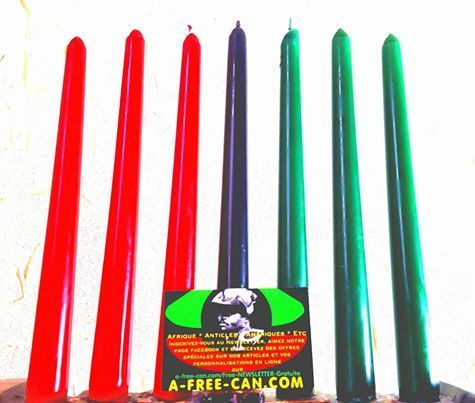 Lot de Bougies / Candles Set: 7 BOUGIES KWANZAA / 7 KWANZAA CANDLES