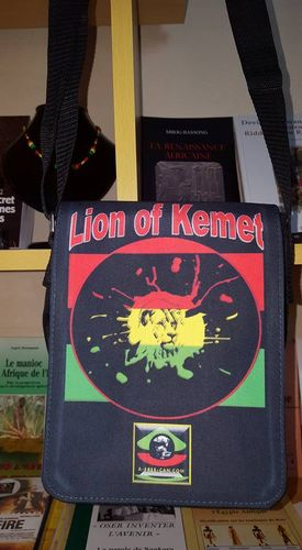"Petit Sac / Small Bag: ""LION OF KEMET"""