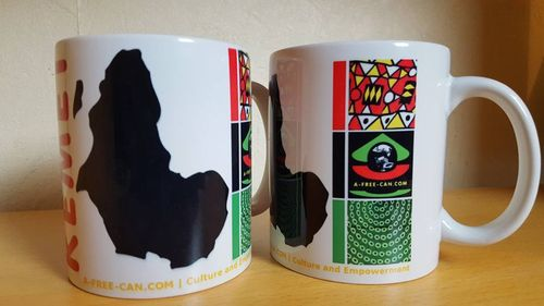 "2 MUGS Medium / 2 TASSES Medium: ""KEMET"" (by A-FREE-CAN.COM)"