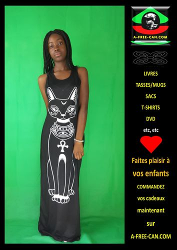 "Robe / Dress: ""BAST"" (Bastet) - Divinité Kamit"