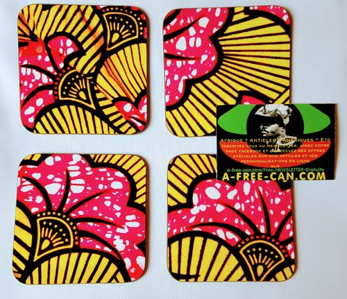 "Sous-Verres (Lot de 4 ) / Coasters (Set of 4): ""KIVITA v1"" by A-FREE-CAN.COM"