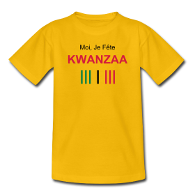 "T-SHIRT, Unisex: ""A-FREE-CAN Kwanzaa"" by A-FREE-CAN.COM"