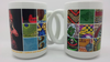 "2 BIG MUGS / 2 GRANDES TASSES: ""AFRICAN PRINT 1"""