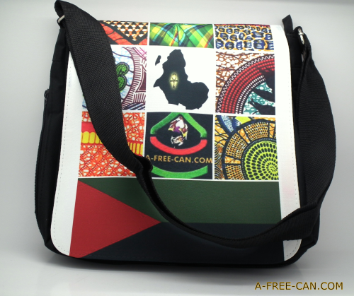 "Pouch bag / Sac à bandoulière: ""MARTINIQUE INDEPENDENCE BAG"" by A-FREE-CAN.COM"