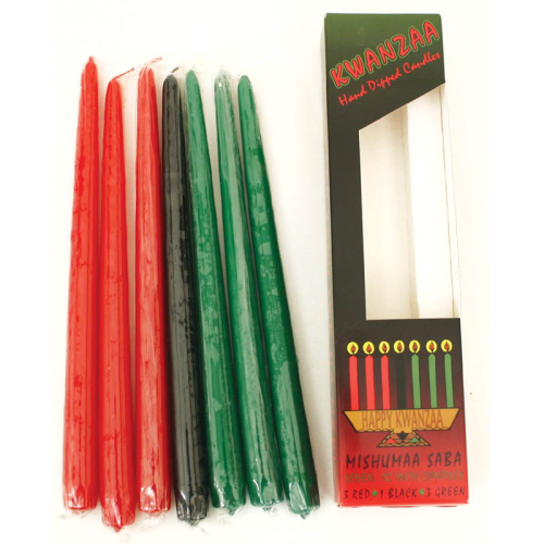 Lot de Bougies / Candles Set: 7 KWANZAA CANDLES
