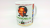 "2 MUGS Medium / 2 TASSES Medium: ""MANDELA""   (by A-FREE-CAN.COM)"