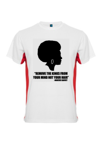 T-SHIRT BICOLOR, Unisex: GOOD HAIR 1 (Marcus Garvey's Quotes)
