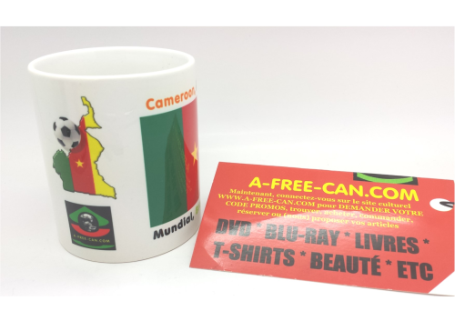 "2 MUGS Medium / 2 TASSES Medium: ""CAMEROON, Mundial Brasil 2014"" (by A-FREE-CAN.COM)"