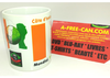 "2 MUGS Medium / 2 TASSES Medium: ""COTE D'IVOIRE, Mundial Brasil 2014"" (by A-FREE-CAN.COM)"