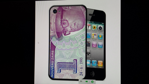 "COQUE 2D pour Iphone 4 et 4S: ""NUMIS 1NZ"" By A-FREE-CAN.COM"