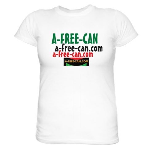 LOT DE 2 T-SHIRTS, Women: A-FREE-CAN (Model 3CL + Model Rose)