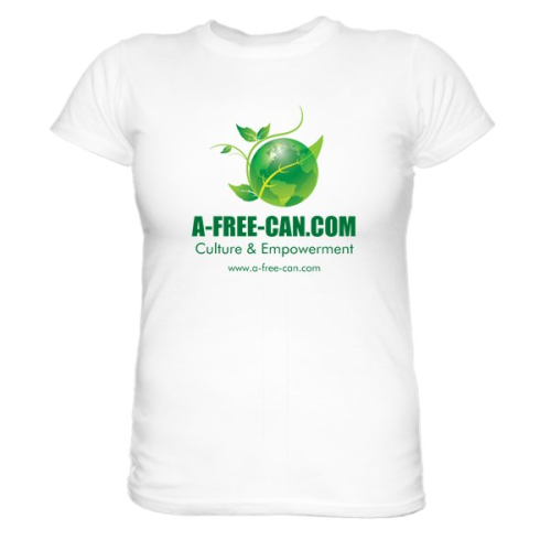 LOT DE 3 T-Shirts, Women:   A-FREE-CAN  (Models 3CL + Rose + Liberdade e Terra)