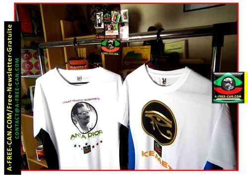 Lot de 2 T-Shirts Unisex : ANTA DIOP (Great Kemetic Scientist) + OUDJAT KEMET