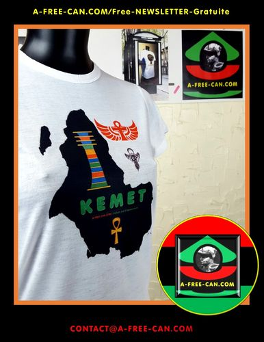 "T-SHIRT, Unisex pour Enfants & Adultes: ""KEMET 1 DJED 3 ANKH"" by A-FREE-CAN.COM"