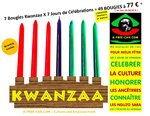 Lot de Bougies / Candles Set: 49 BOUGIES KWANZAA (7 x 7 jours) / 49 KWANZAA CANDLES (7 x 7 days)