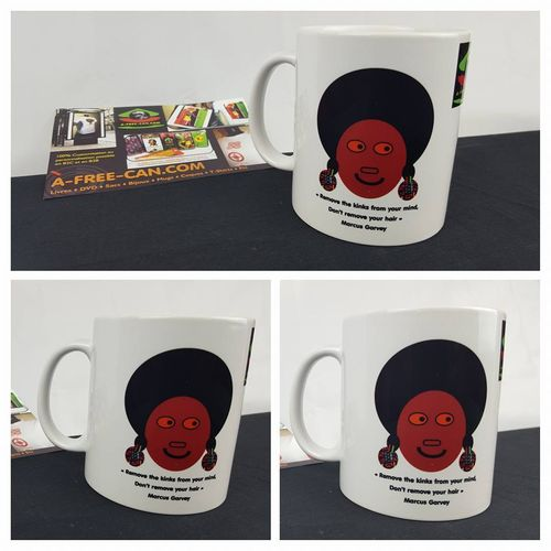 "Achetez 3 mugs & recevez 4 : ""REMOVE THE KINKS FROM YOUR MIND, NOT YOUR HAIR"" (Marcus Garvey)"