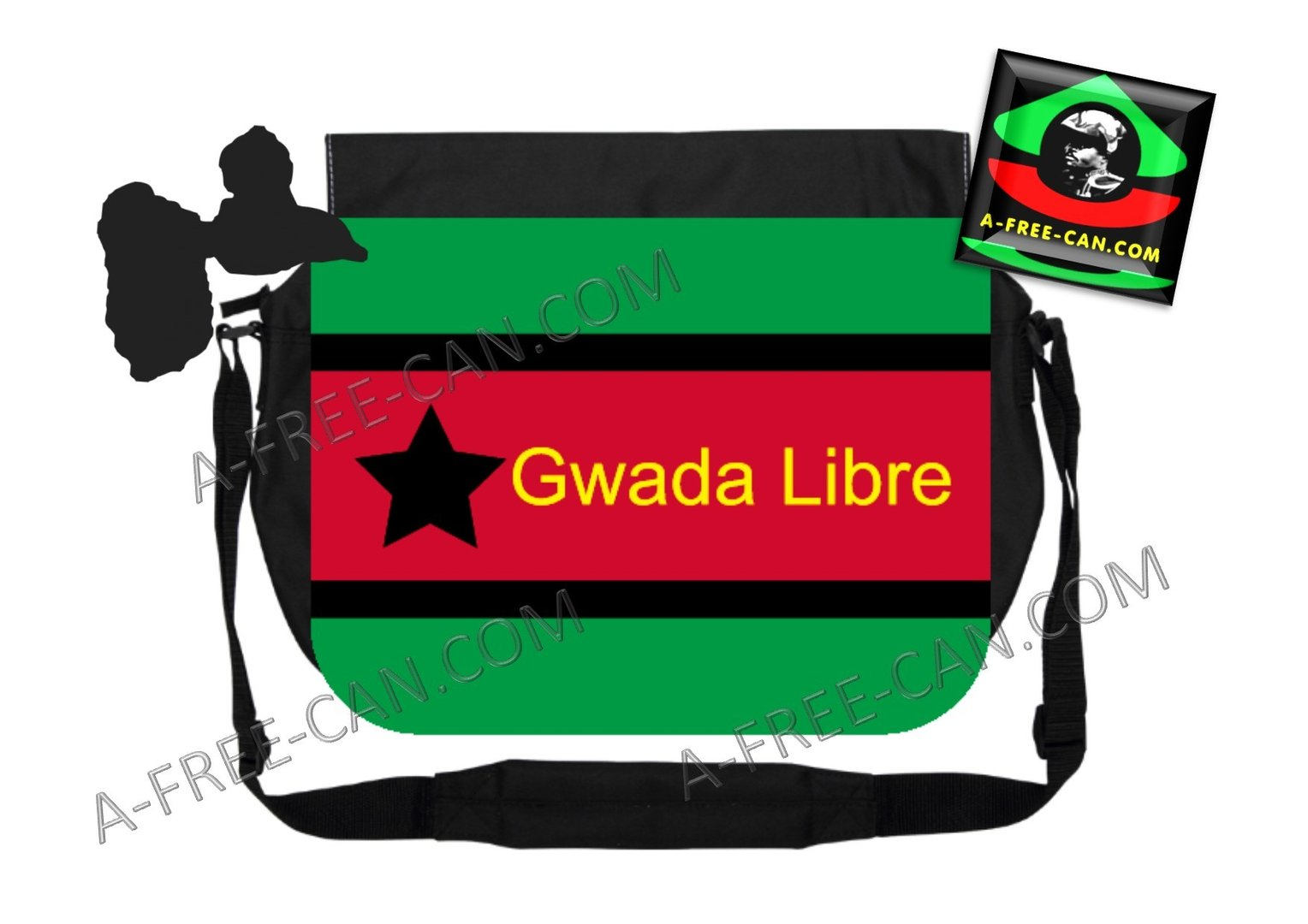 "GRAND Sac à bandoulière: ""INDEPENDENCE BAG GWADA LIBRE, v1"" by A-FREE-CAN.CO"