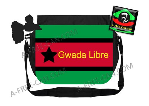 "GRANDE Sacoche à bandoulière / BIG shoulder Bag: ""INDEPENDENCE BAG GWADA LIBRE, v1"" by A-FREE-CAN.CO"