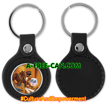 "Porte-clés ""BLACK LOVE KEMET ROYAL 1"" by A-FREE-CAN.COM"