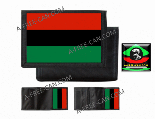 "Portefeuilles: ""DRAPEAU PANAFRICAIN, rbg v1B"" by A-FREE-CAN.COM"