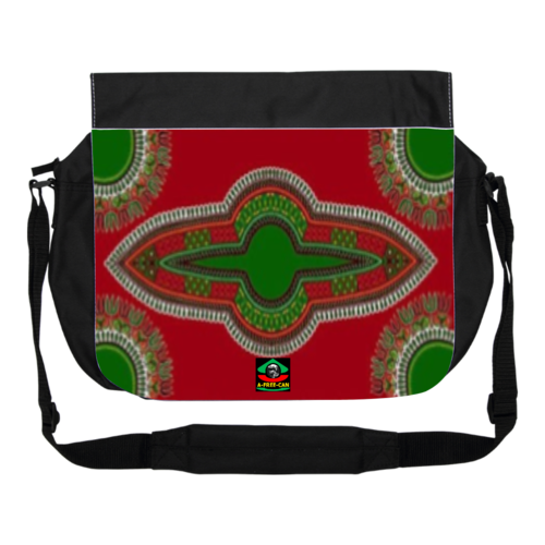 """DASHIKI RED GREEN"" by A-FREE-CAN.COM - (GRAND Sac à bandoulière)"