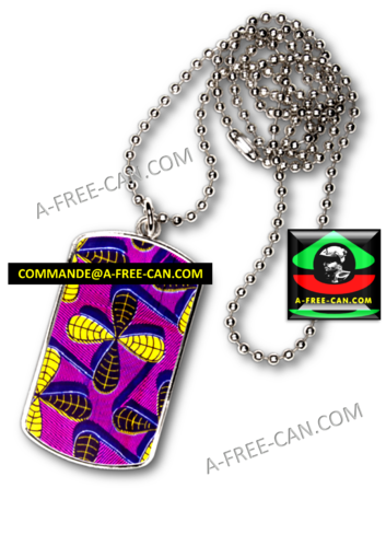 "BIJOUX, Pendentif avec médaille rectangle cr: ""MALAKASI"" by A-FREE-CAN.COM"