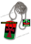 "BIJOUX, Pendentif: ""MÉDAILLE ANKH RBG COULEURS PANAFRICAINES v1"" by A-FREE-CAN.COM"