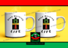 "DUO MUGS Medium: ""ANKH GOOD MORNING LIFE"" (2 Tasses par pack)"