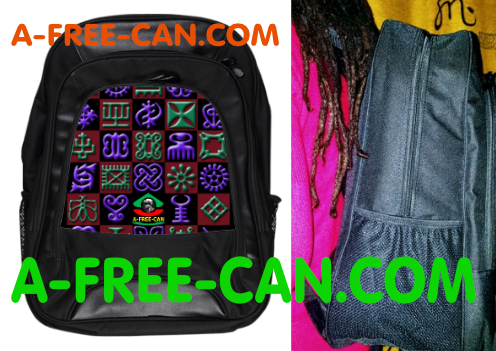 "Grand Sac à Dos: ""ADINKRA v1"" by A-FREE-CAN.COM"