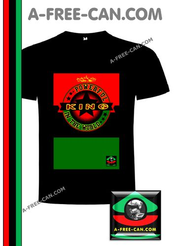 "T-SHIRT, Col Rond Homme: ""POWERFUL KING IN THE WORLD s1"" by A-FREE-CAN.COM."
