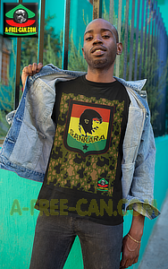 """SANKARA BLACK STAR KAMO rjv 1"" by A-FREE-CAN.COM - (T-SHIRT, Unisex)"