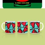 "Lot de 2 Tasses / Set of 2 Mugs: ""KEBO"" by A-FREE-CAN.COM"