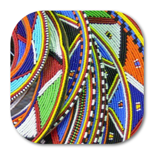 "4 Sous-Verres: ""MASSAI v1CR10"" (coins arrondis) by A-FREE-CAN.COM"