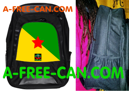 """DRAPEAU GUYANE v1"" by A-FREE-CAN.COM - (Grand Sac à Dos / Big BackPack)"