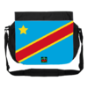 "GRANDE Sacoche à bandoulière / BIG shoulder Bag: ""DRAPEAU CONGO KINSHASA FLAG (vB1)"" by A-FREE-CAN.C"
