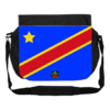 "GRANDE Sacoche à bandoulière / BIG shoulder Bag: ""DRAPEAU CONGO KINSHASA FLAG (vB2)"" by A-FREE-CAN.C"