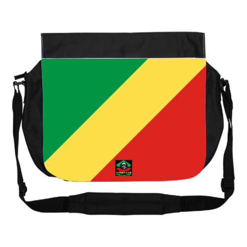"GRANDE Sacoche à bandoulière / BIG shoulder Bag: ""DRAPEAU CONGO NKUNA"" by A-FREE-CAN.COM"