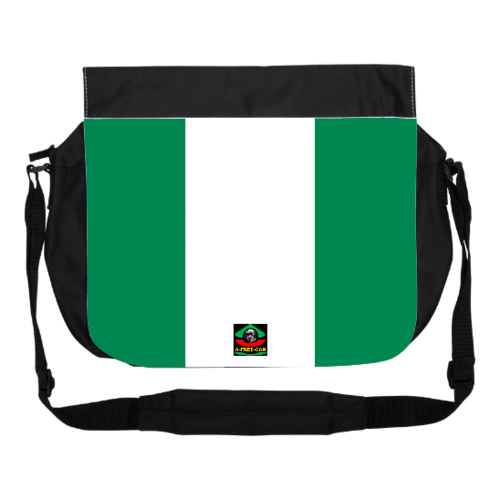 "GRANDE Sacoche à bandoulière / BIG shoulder Bag: ""DRAPEAU NIGERIA"" by A-FREE-CAN.COM"