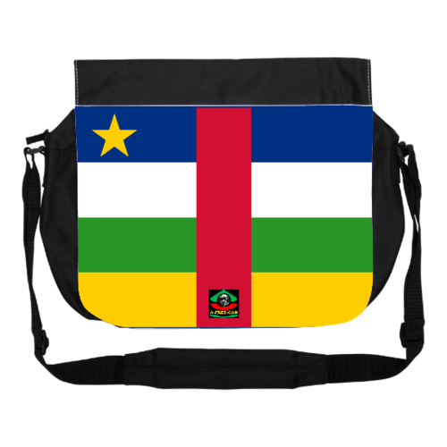 "GRAND Sac à bandoulière: ""DRAPEAU CENTRAFRIQUE"" by A-FREE-CAN.COM"