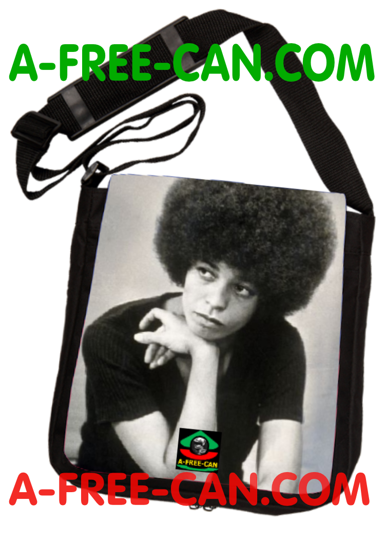 """ANGELA DAVIS"" by A-FREE-CAN - (Sac à Bandoulière)"
