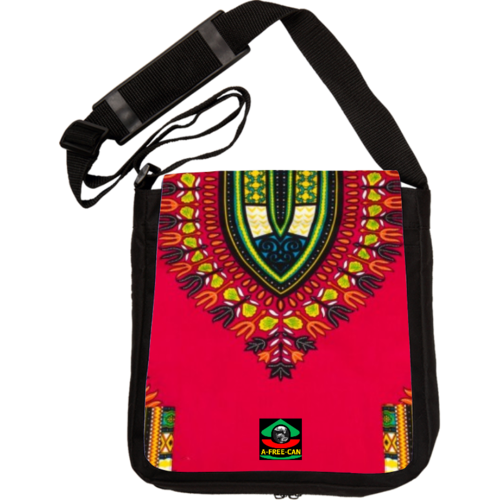 "Sac à Bandoulière: ""DASHIKI ROUGE v4"" by A-FREE-CAN.COM"