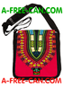 "Sac à Bandoulière: ""DASHIKI ROUGE v1"" by A-FREE-CAN.COM"