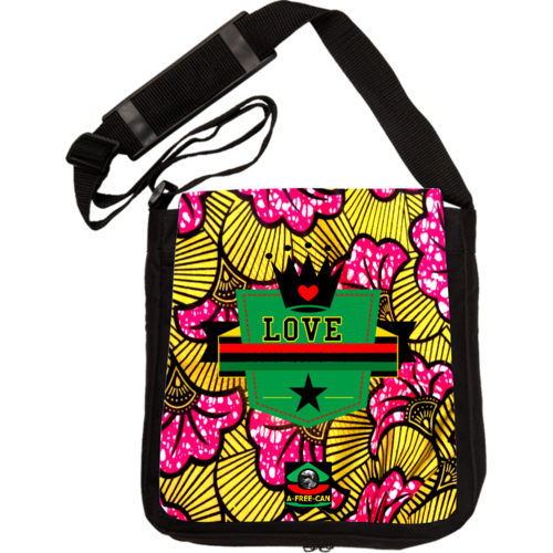 """KIVITA CROWN LOVE BLACK STAR"" by A-FREE-CAN.COM - (Sac à Bandoulière)"