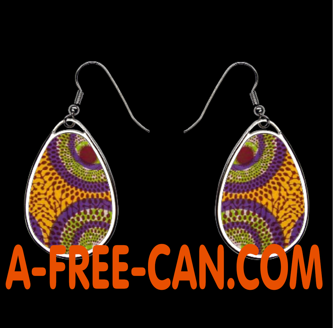 "Boucles d'oreilles: ""KAMANGA v1"" by A-FREE-CAN.COM 