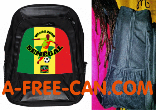 "Grand Sac à Dos: ""WORLD 2018 SENEGAL"" by A-FREE-CAN.COM"
