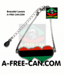 "BIJOUX, Bracelet Lovers : ""DRAPEAU PANAFRICAIN"" by A-FREE-CAN.COM"