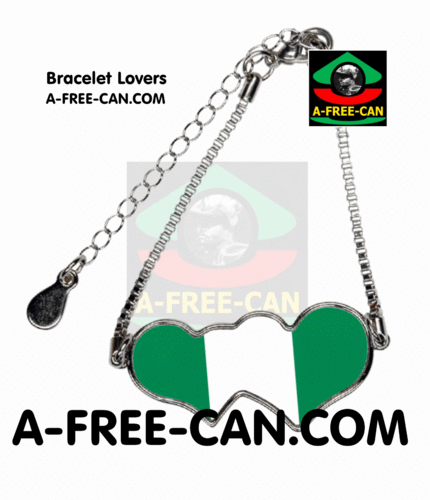 "BIJOUX, Bracelet Lovers : ""NIGERIA"" by A-FREE-CAN.COM"