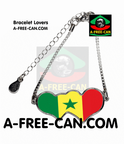 "BIJOUX, Bracelet Lovers : ""SENEGAL"" by A-FREE-CAN.COM"