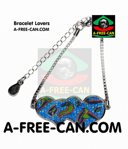 "BIJOUX, Bracelet Lovers : ""NDEGEOCELO v1"" by A-FREE-CAN.COM"